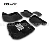 Текстильные 3D коврики Euromat3D Lux в салон для Ford Focus 3 (2011-) № EM3D-002207
