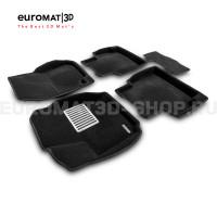 Текстильные 3D коврики Euromat3D Lux в салон для Ford Mondeo (2007-2014) № EM3D-002211