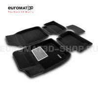Текстильные 3D коврики Euromat3D Lux в салон для Ford Fiesta (2010-) № EM3D-002213
