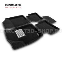 Текстильные 3D коврики Euromat3D Lux в салон для Hyundai i30 (2009-2011) № EM3D-002722