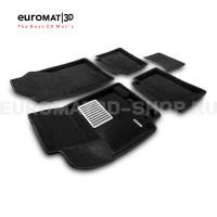 Текстильные 3D коврики Euromat3D Lux в салон для Hyundai Solaris (2010-2016) № EM3D-002717
