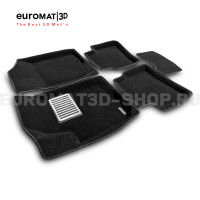 Текстильные 3D коврики Euromat3D Lux в салон для Kia Cerato (2010-2013) № EM3D-002722