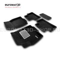 Текстильные 3D коврики Euromat3D Lux в салон для Land Rover Range Rover Evoque (2011-2018) № EM3D-003103