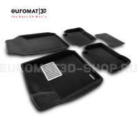 Текстильные 3D коврики Euromat3D Lux в салон для Nissan Teana (2008-2013) № EM3D-003718