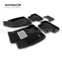 Текстильные 3D коврики Euromat3D Lux в салон для Nissan X-Trail (T31) (2007-2014) № EM3D-003721