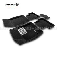 Текстильные 3D коврики Euromat3D Lux в салон для Opel Astra J/GTC (2010-) № EM3D-001504