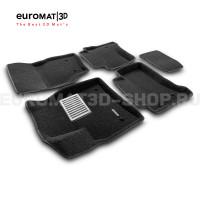 Текстильные 3D коврики Euromat3D Lux в салон для Porsche Cayenne (2002-2009) № EM3D-004100