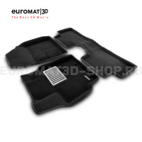 Текстильные 3D коврики Euromat3D Lux в салон для Toyota Corolla (2007-2012) № EM3D-005107