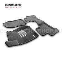 Текстильные 3D коврики Euromat3D Lux в салон для Toyota Land Cruiser Prado 120 (2003-2010) № EM3D-005121G Серые