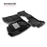 Текстильные 3D коврики Euromat3D Lux в салон для Toyota Land Cruiser Prado 150 (2010-2014) № EM3D-005115