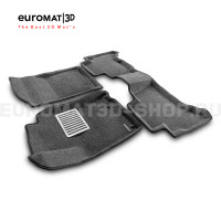 Текстильные 3D коврики Euromat3D Lux в салон для Toyota Land Cruiser Prado 150 (2010-2014) № EM3D-005115G Серые