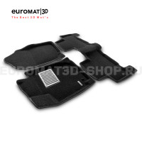 Текстильные 3D коврики Euromat3D Lux в салон для Toyota Rav 4 Long (2006-2013) № EM3D-005126