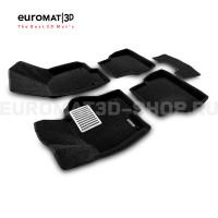Текстильные 3D коврики Euromat3D Lux в салон для Volkswagen Jetta (2010-2018) № EM3D-005414
