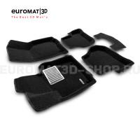 Текстильные 3D коврики Euromat3D Lux в салон для Volkswagen Golf 6 (2009-2012) № EM3D-004502