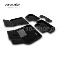 Текстильные 3D коврики Euromat3D Business в салон для Audi Q5 (2008-2016) № EMC3D-001104