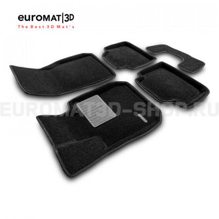 Текстильные 3D коврики Euromat3D Business в салон для Bmw 3 (F30) (2010-2018) № EMC3D-001202
