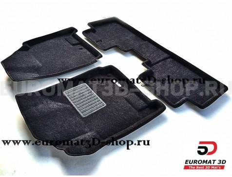 Текстильные 3D коврики Euromat3D Business в салон для Cadillac SRX (2010-2015) № EMC3D-001304