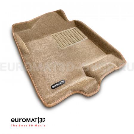Текстильные 3D коврики Euromat3D Business в салон для Cadillac Escalade (2007-2014) № EMC3D-001302T Бежевые