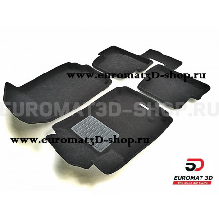 Текстильные 3D коврики Euromat3D Business в салон для Chevrolet Cobalt (2012-) № EMC3D-001501