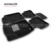 Текстильные 3D коврики Euromat3D Business в салон для Kia Cerato (2010-2013) № EMC3D-002722