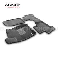 Текстильные 3D коврики Euromat3D Business в салон для Lexus GX470 (1998-2008) № EMC3D-005121G Серые
