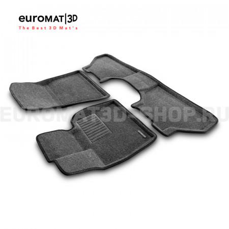 Текстильные 3D коврики Euromat3D Business в салон для Bmw X5 (E70) (2008-2014) № EMC3D-001212G Серые