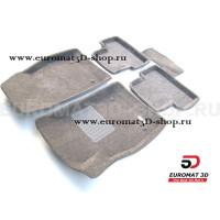 Текстильные 3D коврики Euromat3D Business в салон для Chevrolet Cruze (2009-) № EMC3D-001504G Серые