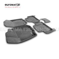 Текстильные 3D коврики Euromat3D Business в салон для Mercedes GL-Class (X164) (2006-2012) № EMC3D-003501G Серые