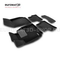 Текстильные 3D коврики Euromat3D Business в салон для Mercedes C-Class (W204) (2007-2014) № EMC3D-003503