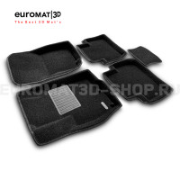 Текстильные 3D коврики Euromat3D Business в салон для Mitsubishi Outlander XL (2006-2012) № EMC3D-003609