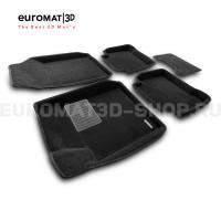 Текстильные 3D коврики Euromat3D Business в салон для Nissan Teana (2008-2013) № EMC3D-003718
