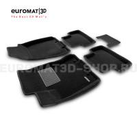 Текстильные 3D коврики Euromat3D Business в салон для Nissan X-Trail (T31) (2007-2014) № EMC3D-003721