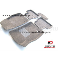 Текстильные 3D коврики Euromat3D Business в салон для Opel Astra J № EMC3D-001504G Серые