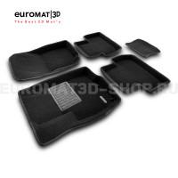Текстильные 3D коврики Euromat3D Business в салон для Peugeot 4008 № EMC3D-003600