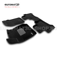 Текстильные 3D коврики Euromat3D Business в салон для Toyota Land Cruiser Prado 120 (2003-2010) № EMC3D-005121