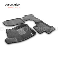 Текстильные 3D коврики Euromat3D Business в салон для Toyota Land Cruiser Prado 120 (2003-2010) № EMC3D-005121G Серые