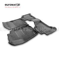 Текстильные 3D коврики Euromat3D Business в салон для Toyota Land Cruiser Prado 150 (2010-2014) № EMC3D-005115G Серые