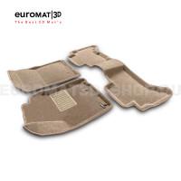 Текстильные 3D коврики Euromat3D Business в салон для Toyota Land Cruiser Prado 150 (2010-2014) № EMC3D-005115T Бежевые