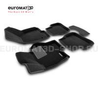 Текстильные 3D коврики Euromat3D Business в салон для Volkswagen Passat B7 (2011-2015) № EMC3D-005412