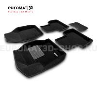 Текстильные 3D коврики Euromat3D Business в салон для Volvo XC 90 (2002-2014) № EMC3D-005508