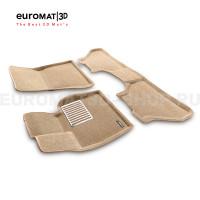 Текстильные 3D коврики Euromat3D Lux в салон для Bmw X5 (E70) (2008-2014) № EM3D-001212T Бежевый