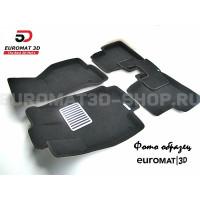 Текстильные 3D коврики Euromat3D Lux в салон для Chevrolet Aveo (2006-2010) № EM3D-001511