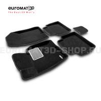 Текстильные 3D коврики Euromat3D Lux в салон для Hyundai Grandeur (2011-) № EM3D-002912