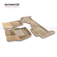 Текстильные 3D коврики Euromat3D Lux в салон для Land Rover Range Rover Sport L494 (2014-) № EM3D-003109T Бежевые