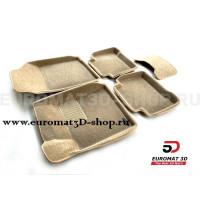 Текстильные 3D коврики Euromat3D Business в салон для Nissan Teana (2008-2013) № EMC3D-003718T Бежевые