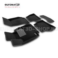 Текстильные 3D коврики Euromat3D Business в салон для Mercedes C-Class (W205) (2015-) № EMC3D-003514