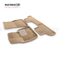 Текстильные 3D коврики Euromat3D Lux в салон для Bmw X5 (F15) (2015-) № EM3D-001215T Бежевые