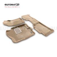 Текстильные 3D коврики Euromat3D Lux в салон для Chevrolet Tahoe (2007-2014) № EM3D-001302T Бежевый
