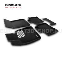Текстильные 3D коврики Euromat3D Lux в салон для Mercedes S-Class (W222) (2013-2020) № EM3D-003515
