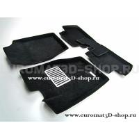 Текстильные 3D коврики Euromat3D Lux в салон для Citroen C4 (2010-) № EM3D-001709